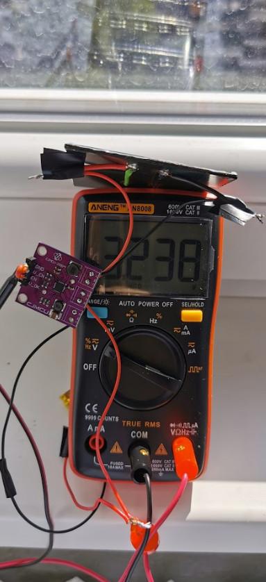 The test setup captured at 10:11 AM.